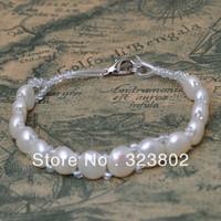 Natural Environmental Freshwater Bead Pearl Jewelry Ladies Womens Girls Bracelet 1pcs