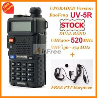 FREE Shipping in STOCK BAOFENG UV-5R UHF VHF Dual Band Radio 136-174MHZ 400-520mHZ with FREE PTT EARPHONE