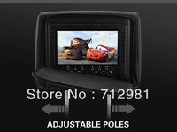 2013 new free shipping 7 Inch Car DVD headrest