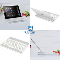 Free Shipping + For new iPad 2 3 4 Aluminum Ultra Thin Bluetooth Wireless KeyBoard Stand Case White Brand new