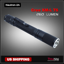 Free shipping porket carry ThruNite Neutron 2A Cree XM-L T6 Flashlight 260 Lumen(China (Mainland))