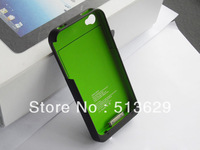 Free Shipping 5pcs/lot 1900Mah External Battery for iphone 4 Backup Charger For iphone 4 4s +retail box