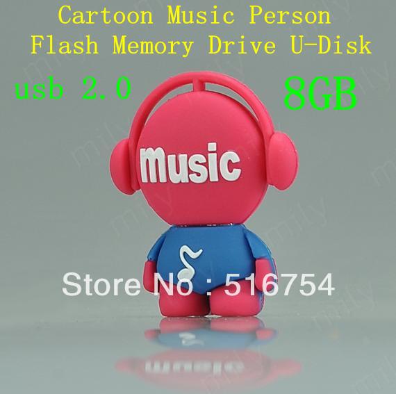 Cartoon Factory Music Cute Cartoon Music Man 8gb Usb
