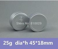 Free Shipping 100pcs/lot 25g Mat Aluminum Can Aluminum Bottle Aluminum Jar Cosmetic Packaging Metal Box