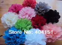 50pc Double Layer Tulle Mesh Wrinkle Fabric Flowers,hair flower accessories wholesale