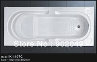 Common Designer Bathtub K-1107C Acrylic Spa Tub Rectangle Shape Hand Control Bathroom Enclosures