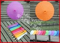 100pcs/lot free shipping colorful wedding silk parasol traditional Chinese handicraft