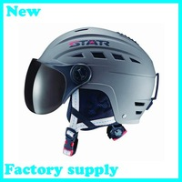 2014 hot sale ABS five color factory supply adult ski open face head protection skateboarding skiing helmets