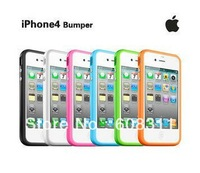 For iphone 4 4S bumper, with retail packing , free shipping by EMS MOQ:100pcs iC016862