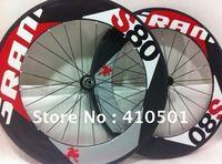 EMS free shipping SRAM S80 Light  wheelset 88mm rim tubular/ clincher Full Carbon 700C road bike wheels
