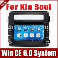 2Din Car DVD Player for Kia Soul 2012-2013 with GPS Navigation Radio TV Bluetooth Map USB AUX Ipod 3G Auto Video Audio Sat Nav