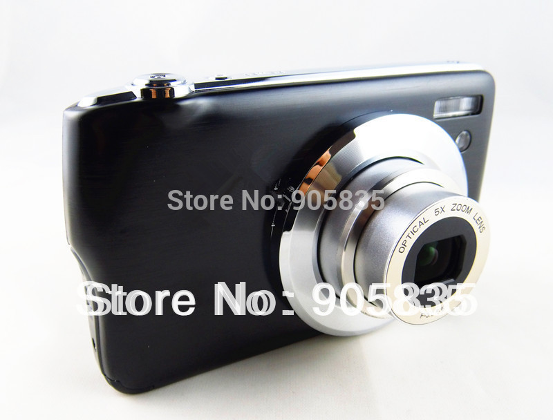 16Mega Pixel digital camera 5XOptical zoom 2.7''Screen 720P Video rechargable battery AC Charger Free Shipping Free gift (327)