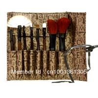8 in 1 Professional Fashion Makeup Brush Set Cosmetic Brushes With Brush Bag 1 set Free Shipping