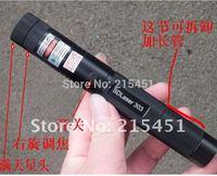 Wholesale - 303 20000mw 532nm green burn laser pointers flashlight star cap free shipping