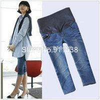 1pcs Free shipping maternity clothing maternity pants maternity jeans maternity denim capris #K368