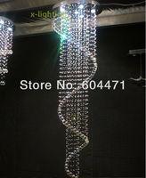 Free shipping + 150cm Spiral Crystal Pendant Lamp Rain Drop Chandelier