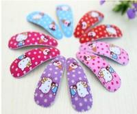 Free shipping 100pcs Children hair accessories Fashion Cartoon Hello Kitty Hair Clip baby girl hairpins