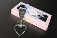 Free Shipping 30box BeterWedding Pink Heart Bottle Opener WJ023/E