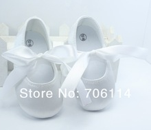 wholesale Baby Shoes, Infant Shoes,White Satin Shoes,Baby First Walkers. Kids Wear Comfortable 15 pcs/lot(China (Mainland))
