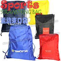 5pcs/lot Fashion Sports Strawstring shopping bag,many colors available sales Eco-friendly durable foldable folding handle bag