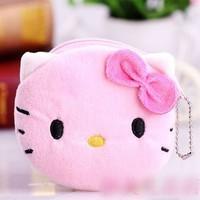 30 pcs/lot pink Hello kitty coin purses Women's coin purses Women's wallet Children's purses