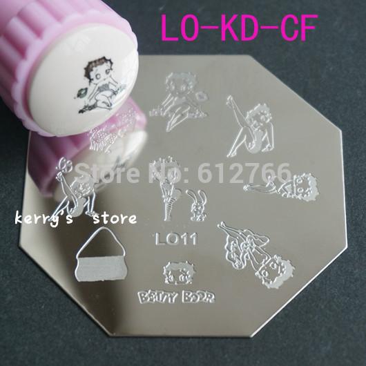 stamping nail art image plate LO & CF & KD series you can choose designs template nail stamp(China (Mainland))