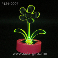 Solar power color changing led light car accessories decoration with 7 color flashing sign