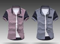 Men's wear short-sleeved shirt is free shipping