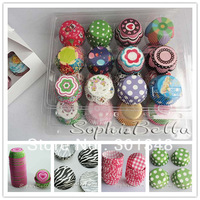 400 pcs 8 STYLES  party supplies cupcake decorations cupcake liners K