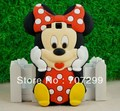 Lovely Cute Cartoon 3D Mickey Minnie Soft Silicone Cover Skin Back Case for Samsung Galaxy S3 SIII S 3 III i9300, Free Shipping