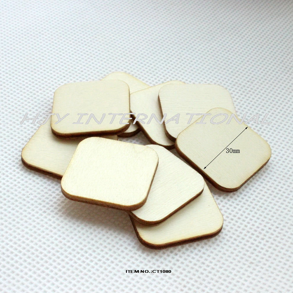 (120pcs/lot) Blank unfinished square wooden scrabble tiles/crafts/ earrings/ rings round corners crafts laser cut-CT1080(China (Mainland))