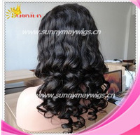 Sunnymay hair 100% Indian remy lace wig human hair fashion body curl lace front wig in stock