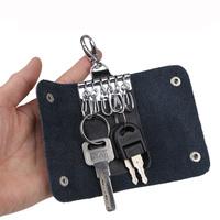 2015 Hot Selling Women&Men's Red Black Geuine Leather Key Case Wallet Holder Purse, Bag For Keys,Promotion gifts,LK001