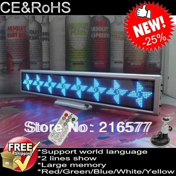 New Hot Hotel/Restaurant/Bar Used Mini LED Notice Board/Display/Sign Free Shipping DC12V