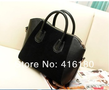 Free shipping  fashion bags 2013 women's handbag nubuck leather smiley bag vintage bag shoulder bag handbag