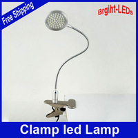 Wholesale Price Hight Quality 50 LEDs Flexible neck clamp  desk lamp Sleek high-tech design 3.6W 300LM