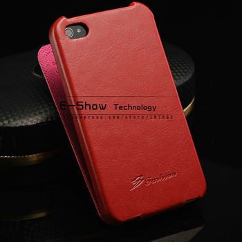 DHL crazy horse leather flip case for iphone4 5g cell phones case for iphone 4 5s luxury cover women handbgs 40pcs/lot