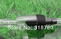 Aquarium Non-Return Air/CO2 Pump Plastic One Way Air Check Valves Clear Black 10pcs / Lot