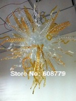 Free Shipping Cheap Clear Blown Amber Glass Chandelier Lighting