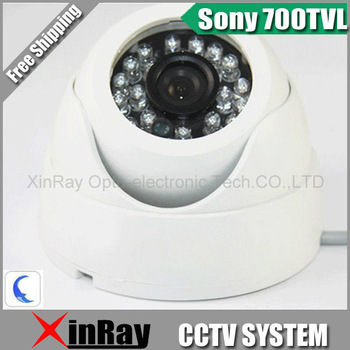 Free Shipping,Sony 2040 CCD 700TVL Night Vision Color IR Indoor Dome CCTV Camera ,Home Security Camera,XR-IC700-3,Wholesale