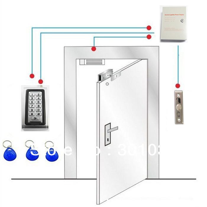 Maglock door lock complete single door laundromat for Door access controller
