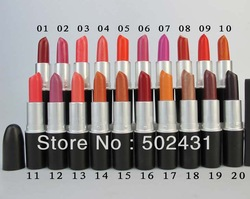 Top quality Makeup,brand cosmetics 24 colors mineral matte lipstick black box 5pcs/lot with english name + drop shipping(China (Mainland))