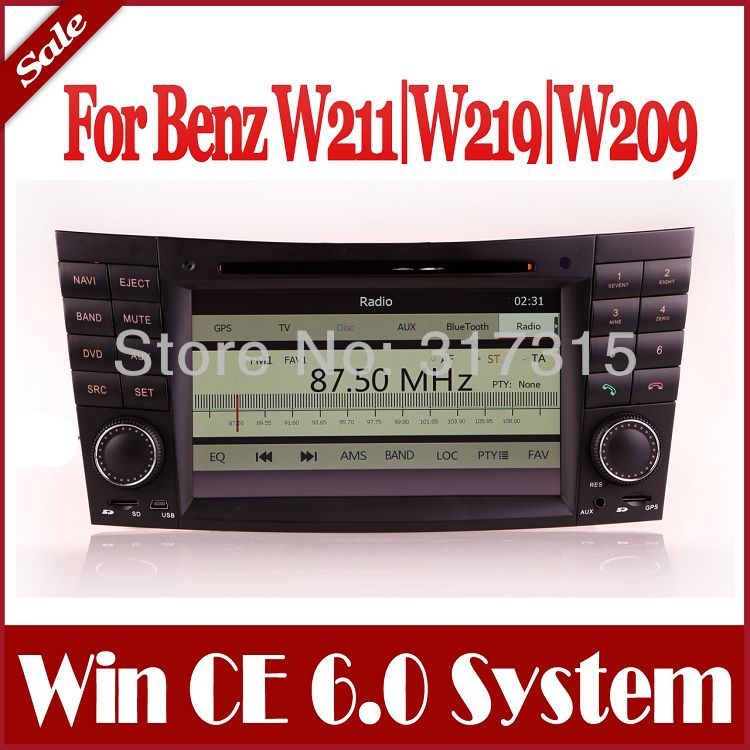 Car DVD Player for Mercedes Benz E Class W211 E200,E220,E240,E270,E280 / CLK W209 with GPS Navigation Stereo Radio Bluetooth TV(China (Mainland))