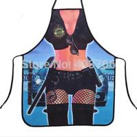 Ladies Funny Apron PolicewomanKitchen Apron sexy women  lady apron