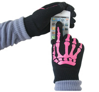 2012   skeleton iphone touch screen gloves for galaxy S3 uggs free shipping