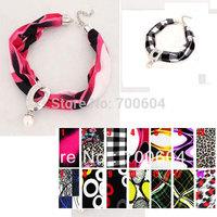 Woman punk choker autumn short cloth fabric rhinestone alloy pendant beaded  necklace  mixed order direct factory supply