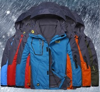 Free shipping 2013 Men's ski suit outdoors winter overcoat, down coat, down winter jacket, 8 colors SIZE:XL-4XL, wholesale