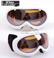Free Shipping Double PC lens anti- Fog/ wind/sand Skating/riding goggle children all whether ski glasses 100% uv protection S062
