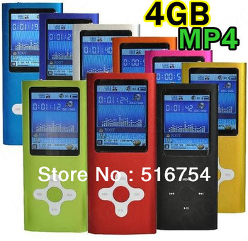 "2"" LCD Screen 4GB MP3 MP4 Multi Media Video Player Music FM Radio DA0193--DA0201"