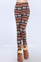 Free Shipping ML7558 Winter Tights women Warm Pants Cashmere Snow Trousers Galaxy ladies sexy trousers